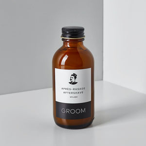 groom splash après-rasage aftershave