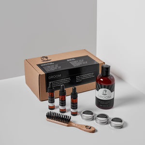 Coffret Deluxe - Soins de la barbe by Les industries Groom - Soins barbe | Samara & Co