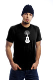 Nature Guitar T Shirt Tree Arbre Guitare Black Noir Organic Made Local