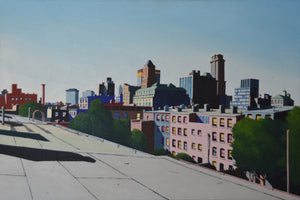 Brooklyn Rooftop Print by Ken Rush