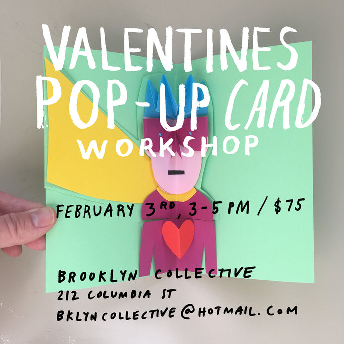 Sold Out: POP UP CARDS for Valentine's Day Workshop