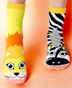 Lion & Zebra Kids Socks by PALS