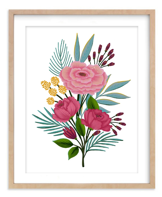 Floral Arrangement print by Dot & Jot