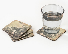Load image into Gallery viewer, Brushed Cherry Blossoms Coaster Set by One Day One Image