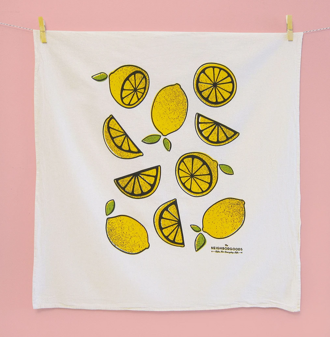 When Life Gives You Lemons Dish Towel by The Neighborgoods