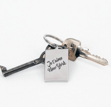 Load image into Gallery viewer, Je t'aime New York Keychain by Lady JC Muses Designs