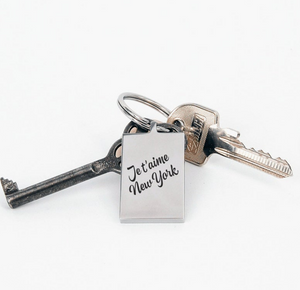 Je t'aime New York Keychain by Lady JC Muses Designs