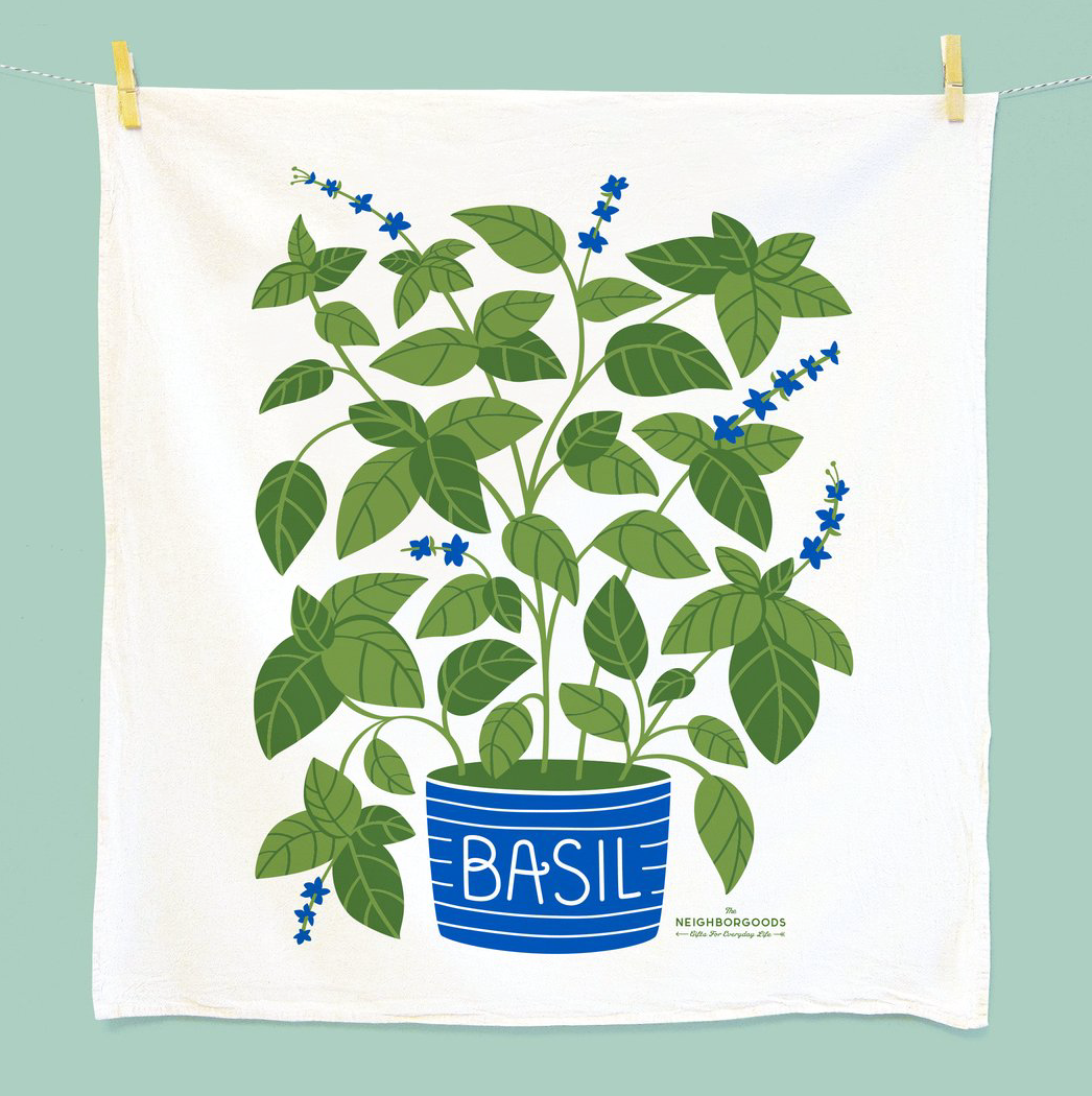 Basil Dish Towel by The Neighborgoods
