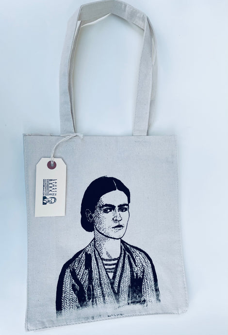 Black & White Frida Tote bag by Lauren Simkin Berke