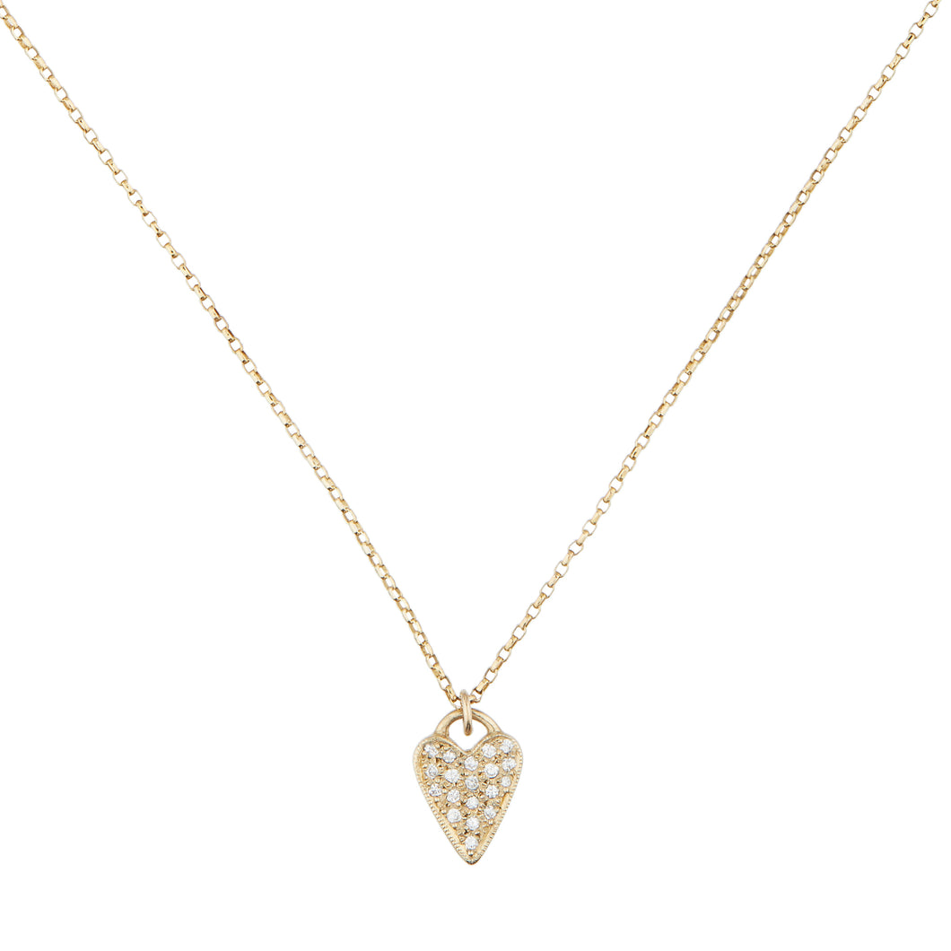 14K Gold & Diamond Heart necklace by LHN Jewelry