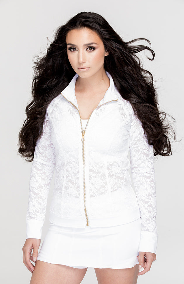 Lace Jacket White