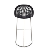 Guapa Counter Stool in Chrome/Black Hide