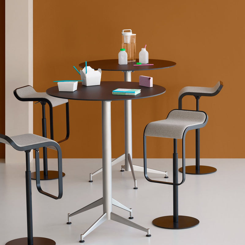 LEM Piston Self-Returning High Swivel Bar Stool with Gas Lift