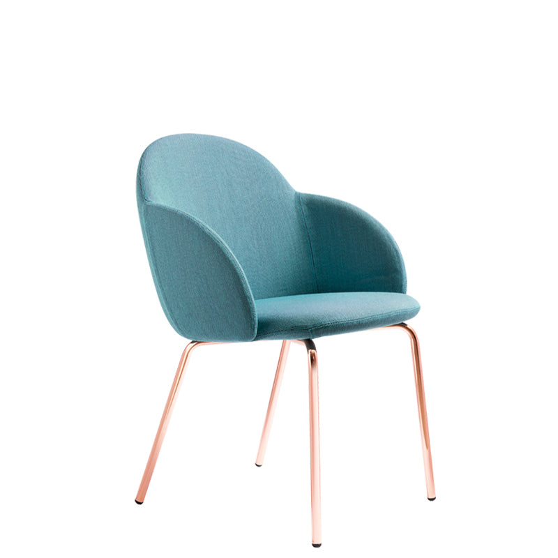 Iola Armchair with Steel Base