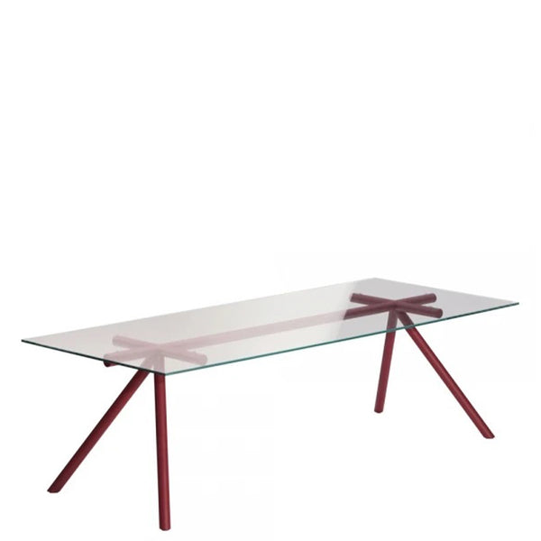 W Dining Table - Transparent Glass Top