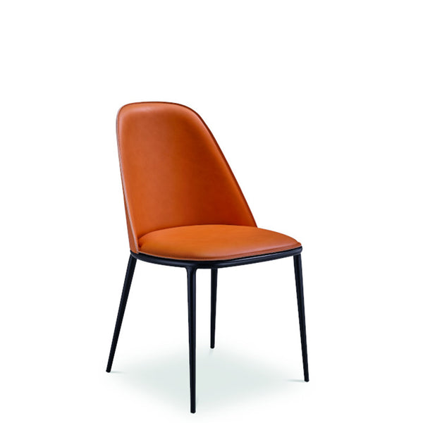 Lea S M CU Side Chair in Leather