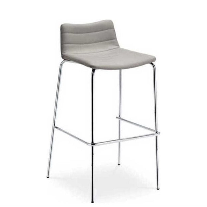 Cover Bar Stool in Chrome/Secret Ash Gray