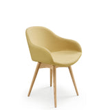 Sonny PB L TS R Armchair with Wood Base