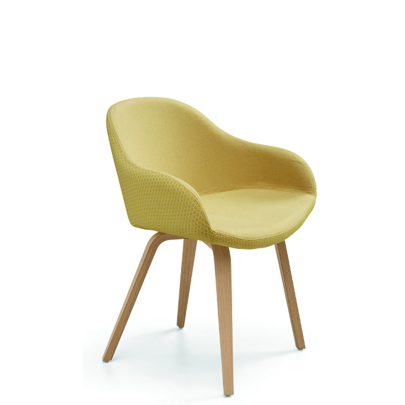 Sonny PB L TS N Armchair with Wood Base