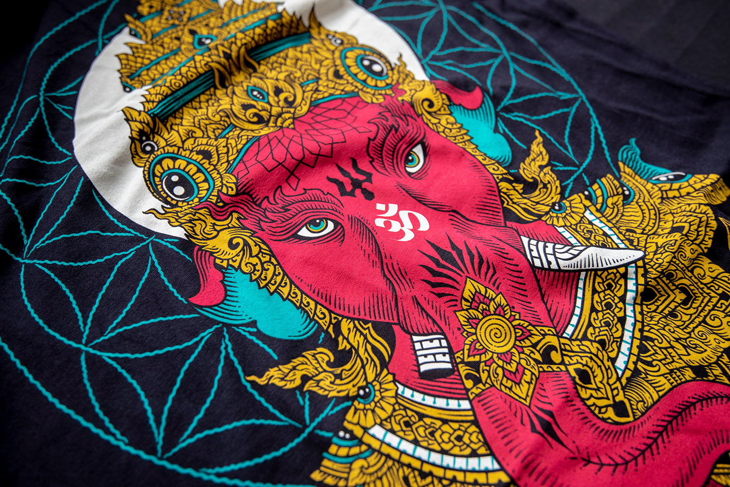 Techne 'Ganesha':  Skate • Meditate • Create T-shirt