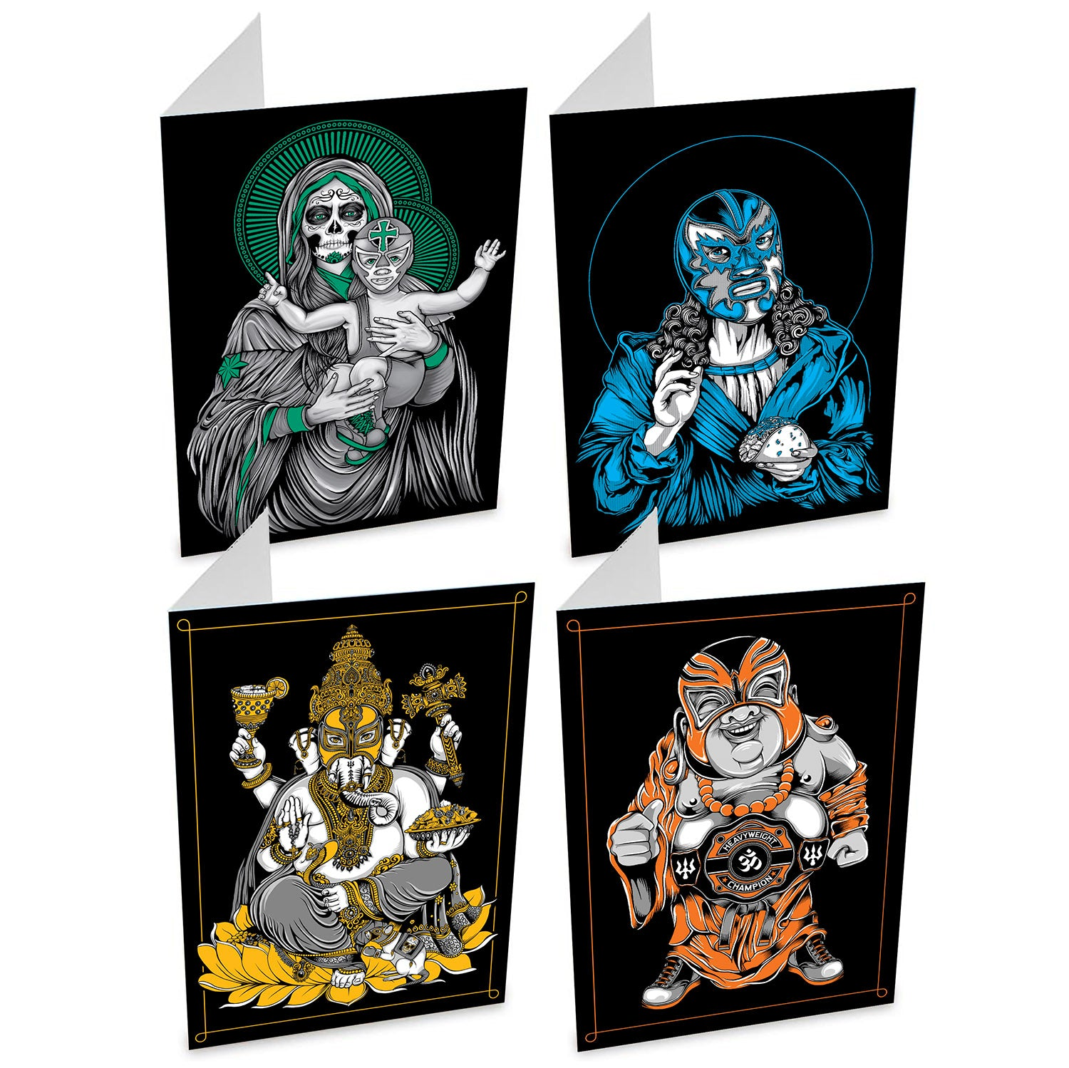 Lucha Greeting Cards: Set of 4
