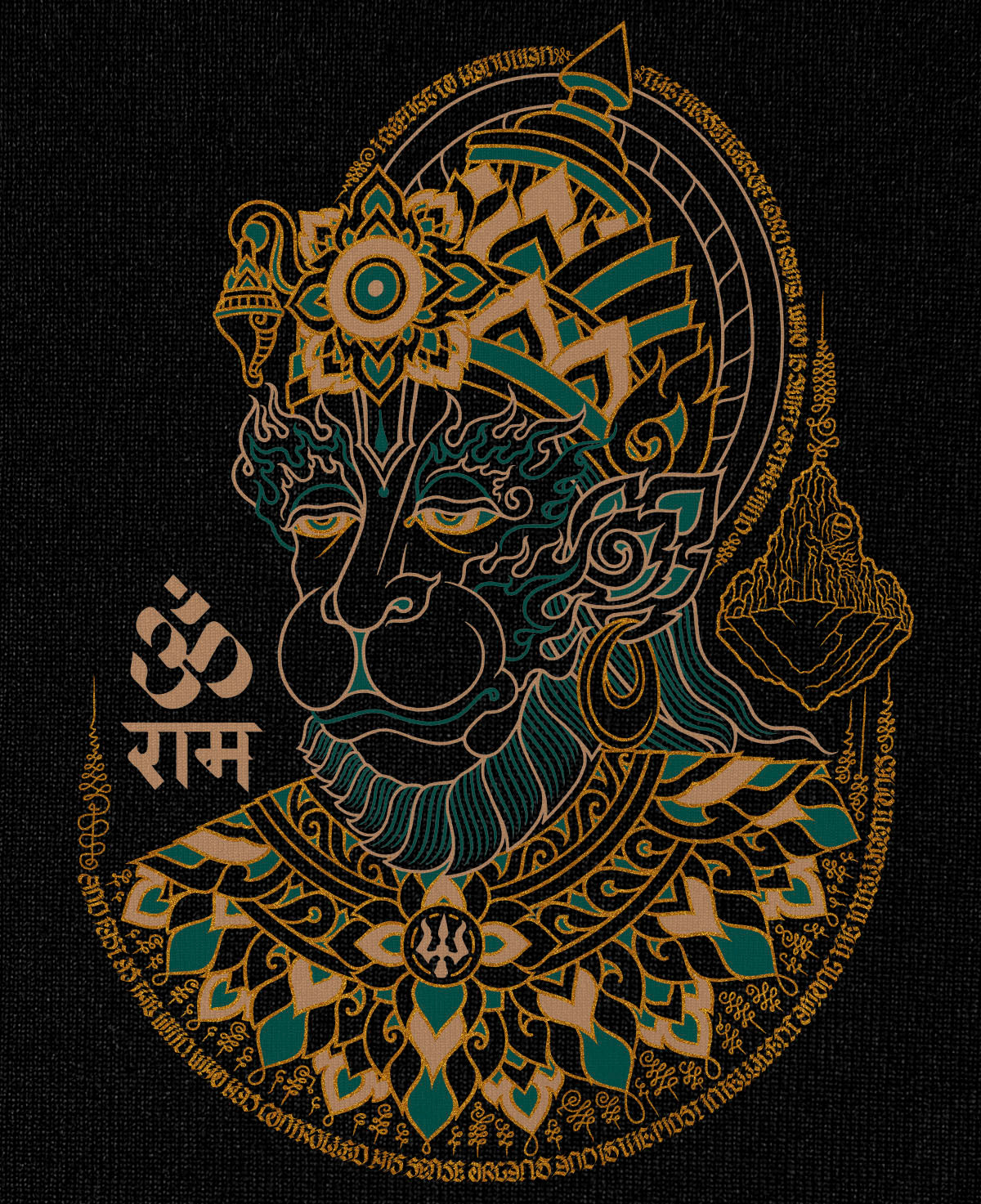 Long sleeve T-shirt: 'Hanuman'