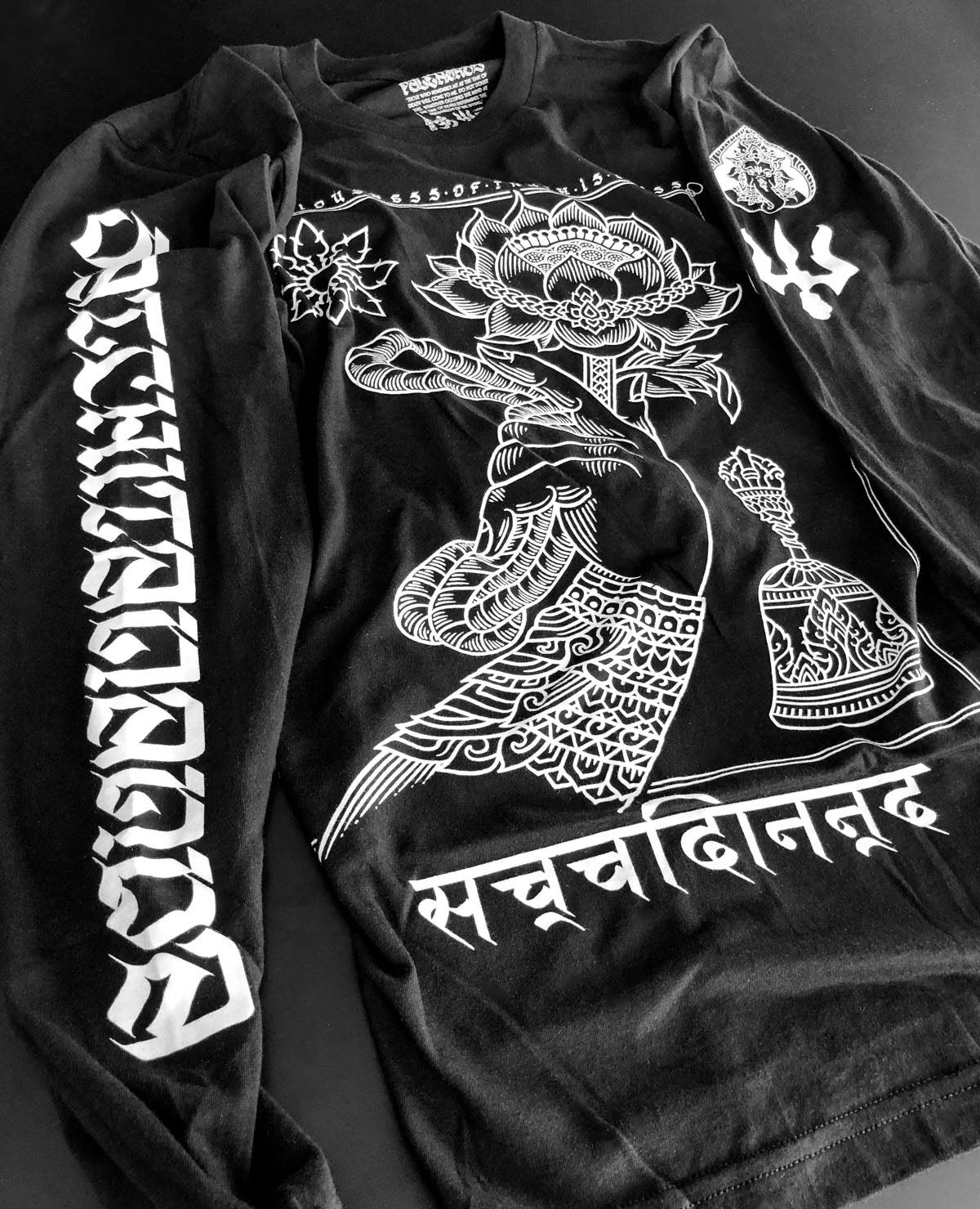 Long Sleeve T-shirt: 'Satchitananda'