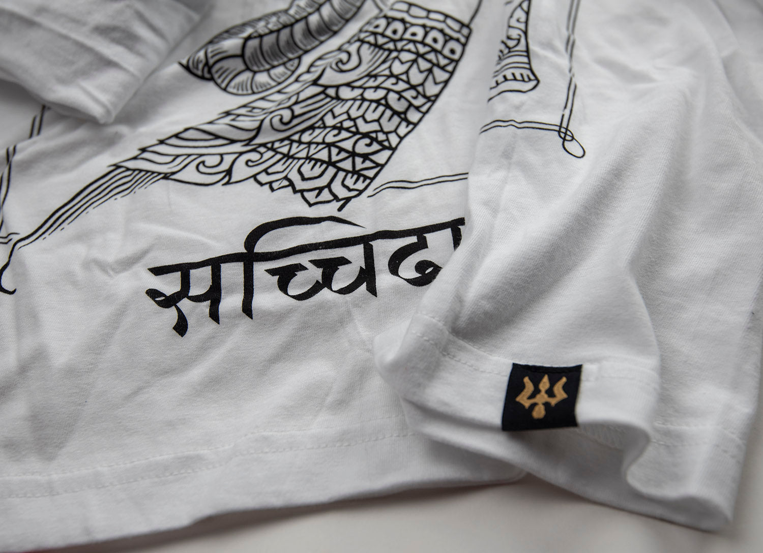 Long Sleeve T-shirt: 'Satchitananda' (White Variant)
