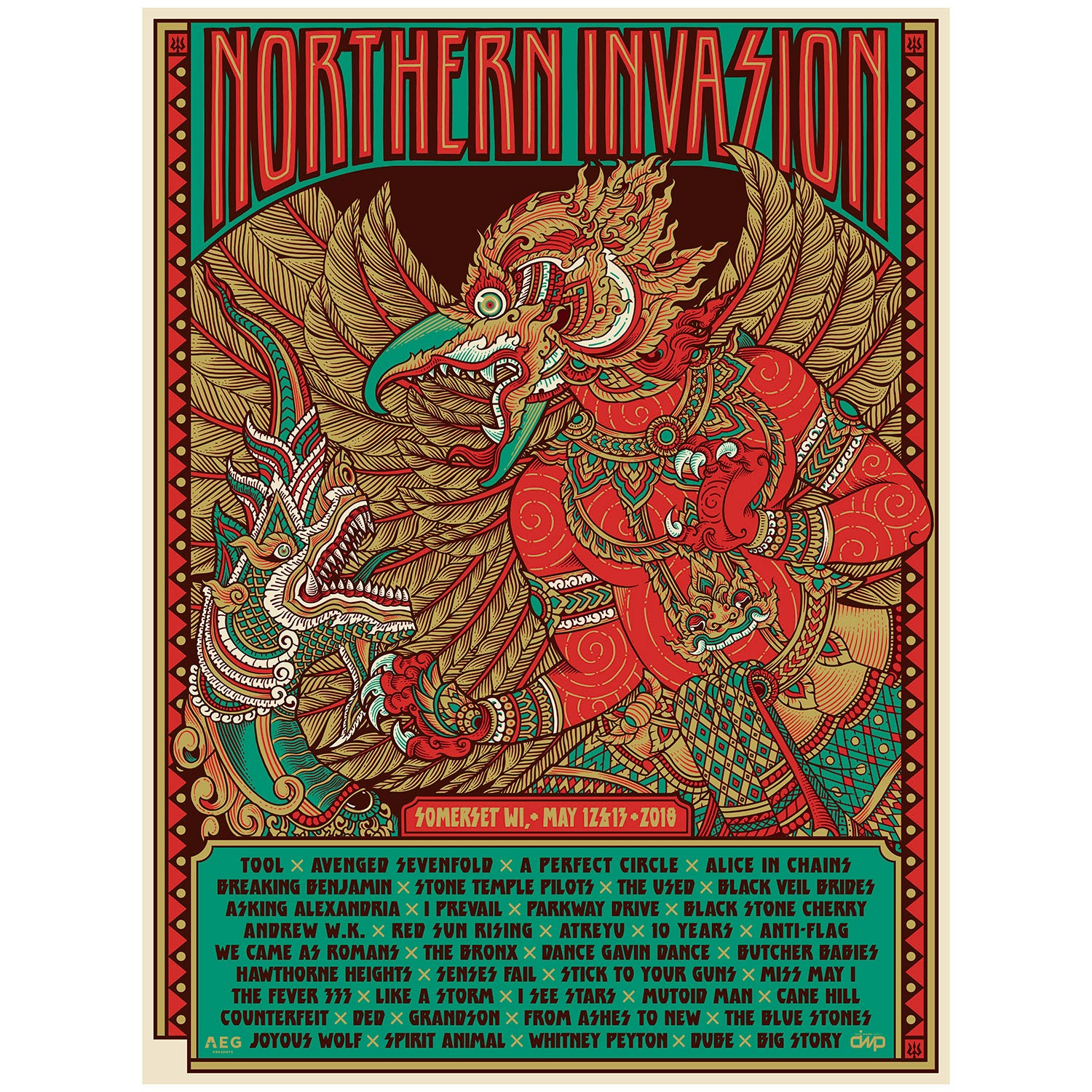 Northern Invasion: Artist Proof Gig Poster