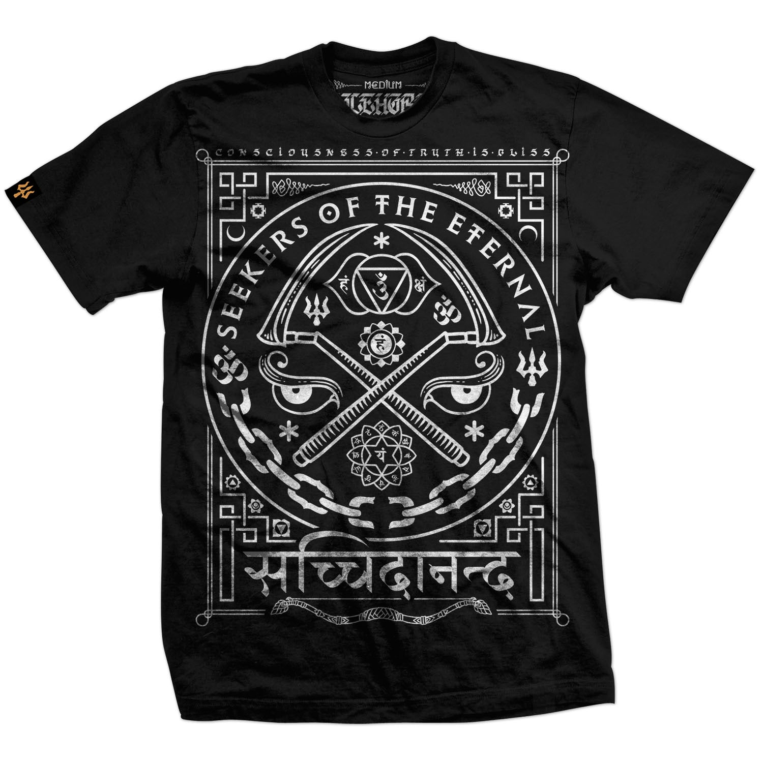 T-shirt: 'Seekers' Black