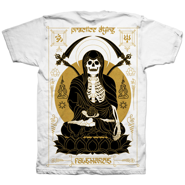 T-shirt (Pre-order): 'Practice Dying' White