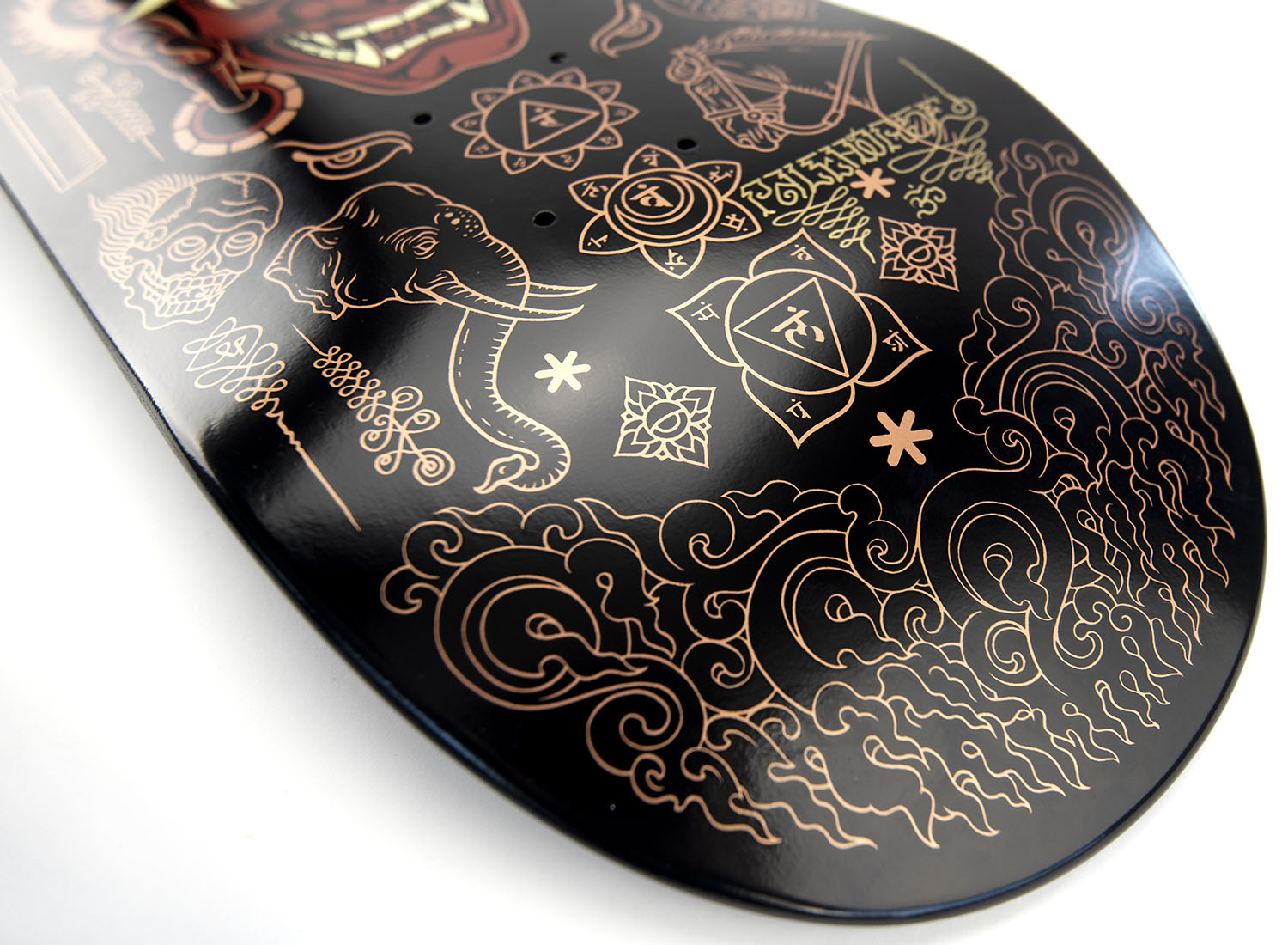 Skate Deck Art: 'Yama - King of Death' Rose Gold Variant