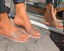 Load image into Gallery viewer, Pink diamond sandals