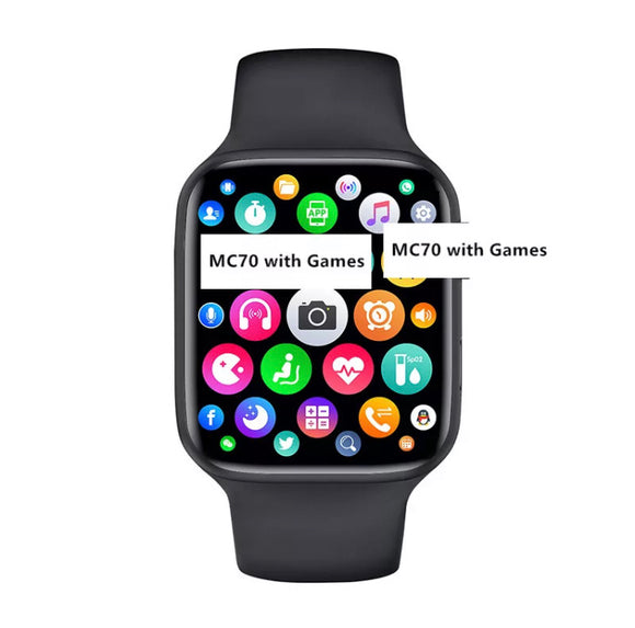 New MC70 Series 6 Smart Watch full Screen with Multiple Sport Mode & with 3 Games for Android & IOS Mobiles