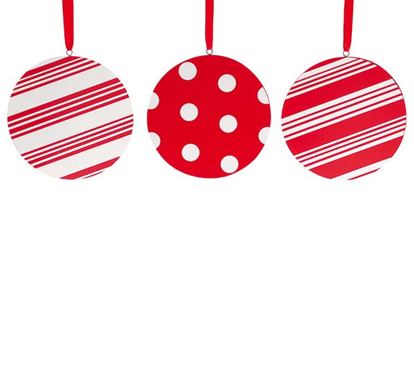 Red & White Ornaments / Final Sale