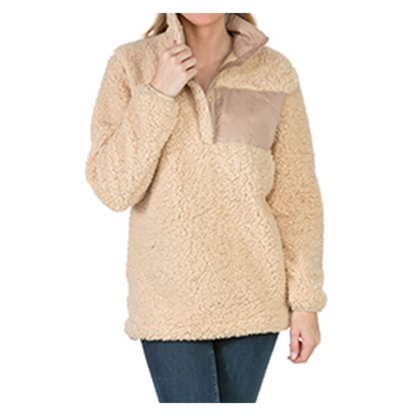 Tan Sherpa Sweatshirts