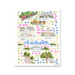 Preorder Charleston, West Virginia Map Illustration