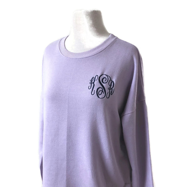 Monogram Lilac Sweater Top