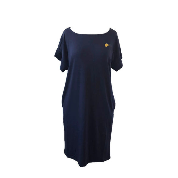 Navy Crewneck WV Dress - Final Sale