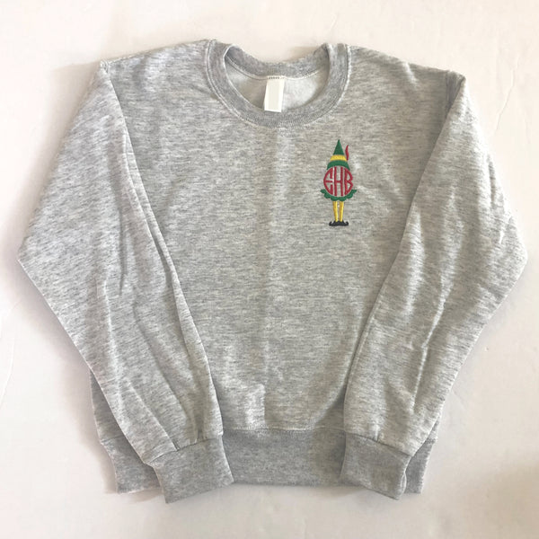 Youth Holiday Elf Crewneck Sweatshirts