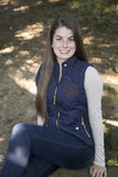 Navy Monogram Vests