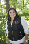 Black Monogram Vests