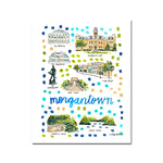 Morgantown, West Virginia Map Illustration