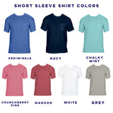 Short Sleeve Sorority Family Name Reveal Pocket Tees