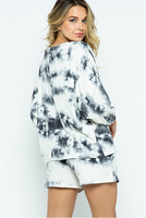 Marble Long Sleeve Monogram Set