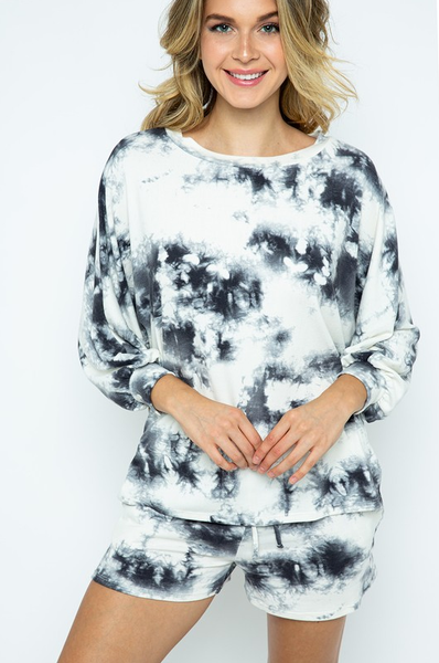 Marble Long Sleeve Top