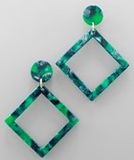 Green Diamond Earrings
