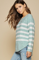 Seafoam Striped Sweater