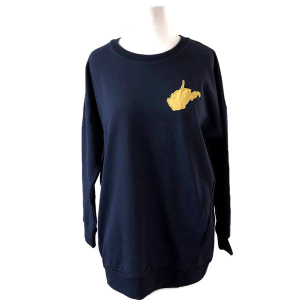 West Virginia Crewneck Sweatshirt - Navy With Gold