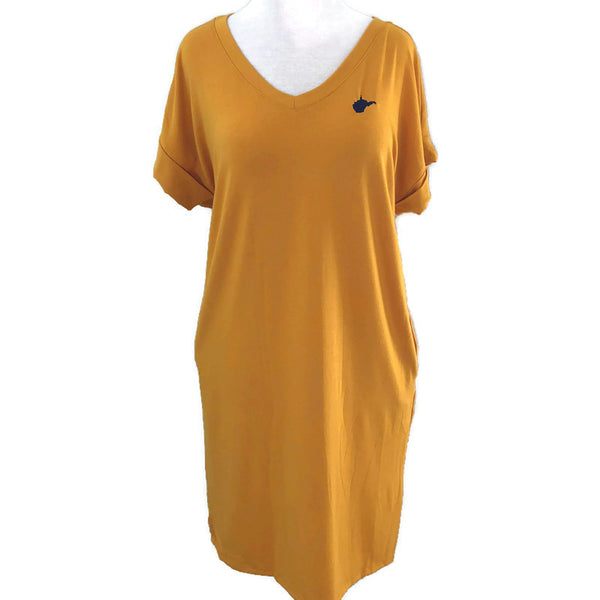 WV T-Shirt Dress - Gold